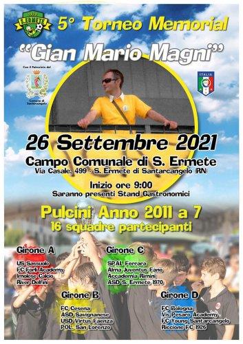 Domenica 26 il 5° Memorial 'Gian Mario Magni'