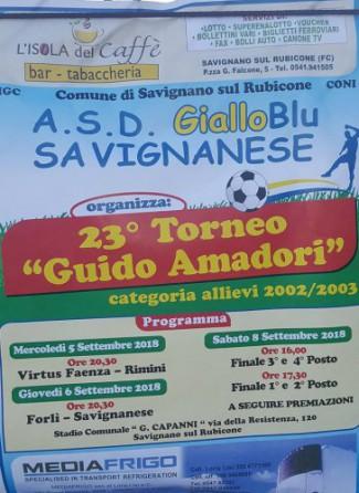 Savignano ospita il 23° torneo G.Amadori per allievi
