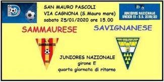 Derby Sammaurese-Savignanese non disputato per ..... affollamento squadre