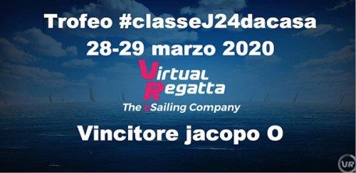 Jacopo Ognibene della Flotta J24 Romagna si aggiudica il Trofeo #classeJ24dacasa