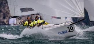J/70 Cup - Act 3 - Alberto Rossi sul podio della J/70 Cup a Malcesine con Enfant Terrible-Adria Ferries