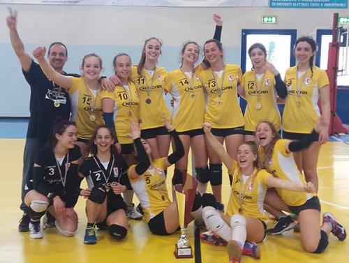 Ke Car RVR under 16 femminile Campione territoriale del comitato FIPAV Romagna uno