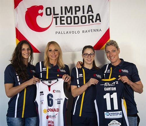 La Conad Olimpia Teodora Ravenna ha presentato le nuove maglie della stagione 2018-2019