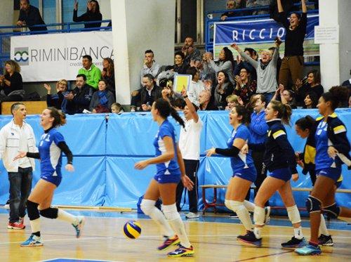 Riccione Volley - Volley Cesenatico 3-0 (25-13/25-15/25-23)