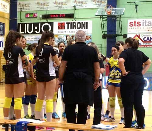 Rubiera Volley-Liu Jo Tironi: 3-2  (20-25/ 25-19/ 27-29/15-3)