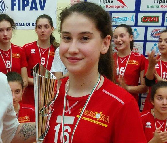 Vittoria Balducci, giovanissima atleta di Teodora Volley Torrione, convocata in Nazionale Under 16
