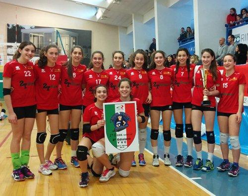 Volley under 14 -  Teodora Torrione 2T Scavi; dopo la vittoria nel Campionato Provinciale, arriva anche la qualificazione alla Final Four regionale.