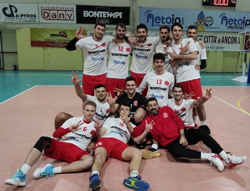 Bontempi Casa Netoip Ancona – Volley Gioia (BA): 3-0 (25-13,25-23,25-22)