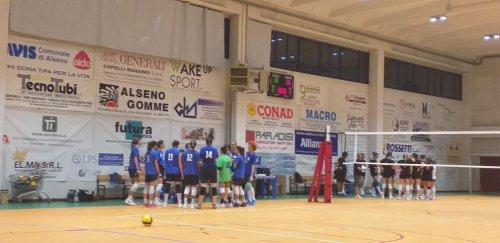 La Conad Alsenese cede nel test contro la Tirabassi & Vezzali (1-3)