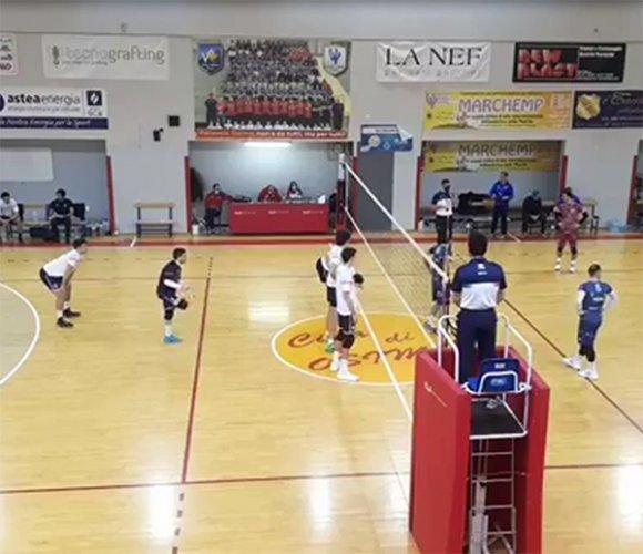 Sampress Loreto – La Nef Osimo 3-0 (25-16; 25-20; 25-13)