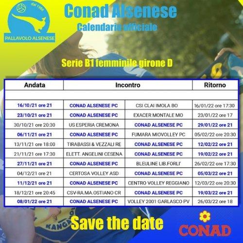 Volley serie B1 femminile girone D, per la Conad Alsenese l'esordio sarà casalingo contro Imola