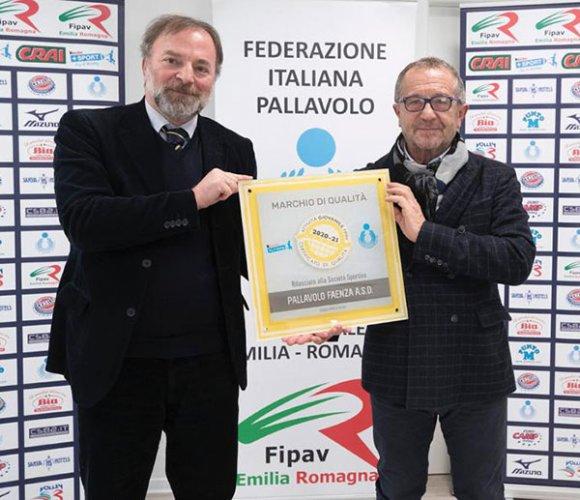 Pallavolo Faenza premiata con la certificazione di qualità grazie anche al progetto ecovolley