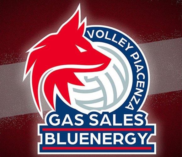 Svelato il nuovo logo di Gas sales bluenergy volley Piacenza