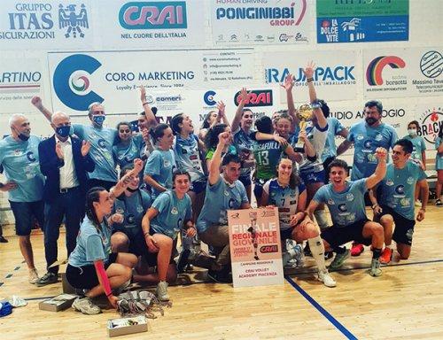 La Volley Academy Piacenza è campione regionale Under 17