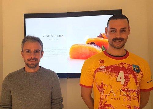 La Nef Osimo ha presentato il nuovo arrivato Daniel Bacca