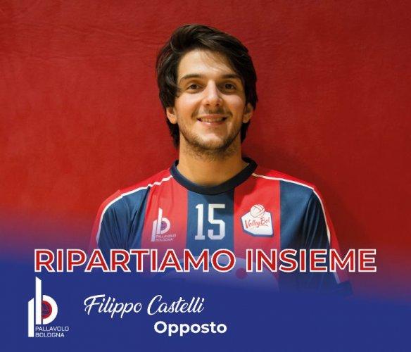 GEETIT Pallavolo Bologna è lieta di comunicare la riconferma per la stagione 2020/2021 dell'opposto Filippo Castelli.