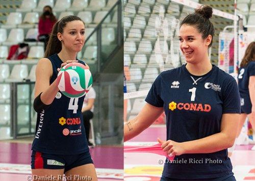 Rachele Morello e Rebecca Piva convocate in nazionale per la Volley Nations League