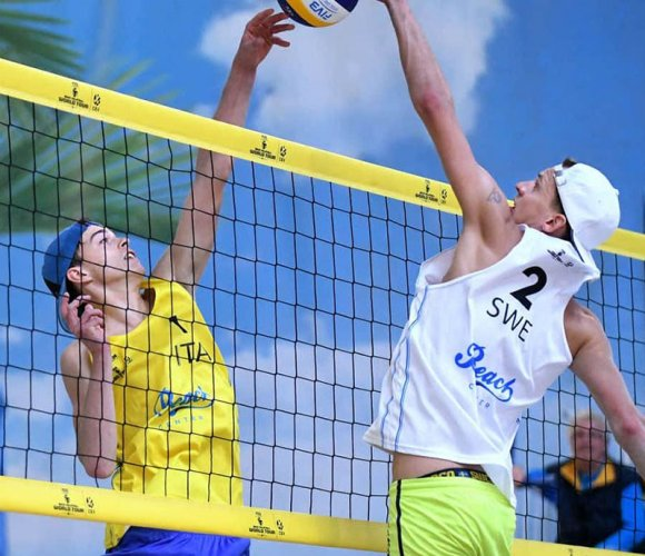 Samuele Cottafava veste d'azzurro per il campionato Europeo Under 22 di Beach Volley in Turchia