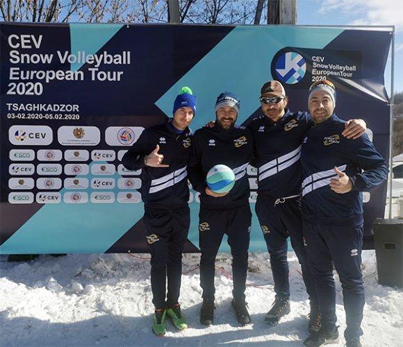 Doppia trasferta per il team di snow volley di powerbeach in Armenia e Georgia