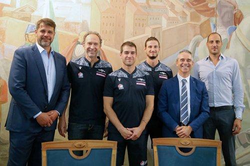 Gas Sales Bluenergy Volley Piacenza: presentati: Thibault Rossard - Pierre Pujol - Renato Barbon