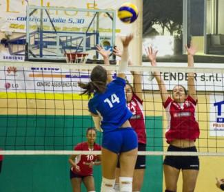 Riccione Volley - Riviera Volley Rimini 1-3 (22-25/25-21/19-25/18-25)