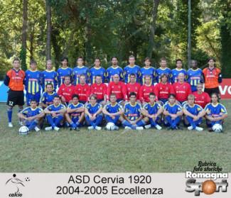"""FOTO STORICHE - ASD Cervia 1920  2004-05 """"CAMPIONI"""""""