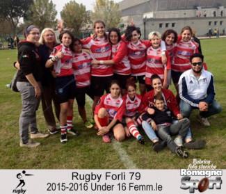 FOTO STORICHE - Rugby Forlì 79 Under 16 femminile 2015-16