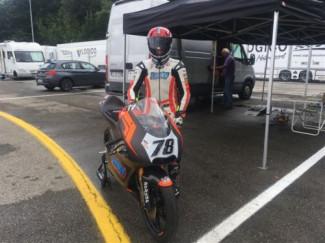 Il Lucky Racing Team a Varano con Andrea Raimondi – prima gara dopo l'intervento alla spalla.