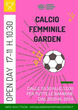Il calcio Garden è anche femminile: open day il 24 novembre