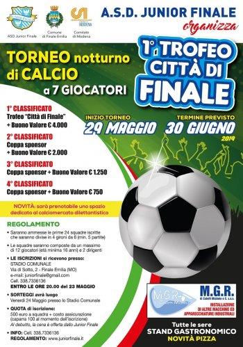 """Torneo di Calcio a 7 in notturna """"1° Trofeo Città di Finale"""""""